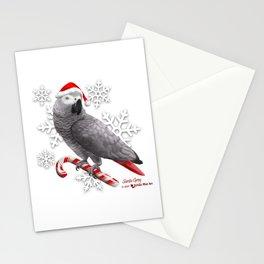 Santa Grey Stationery Cards