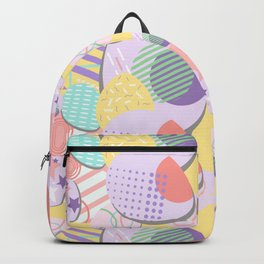 Memphis Style Easter Eggs Seamless Pattern Backpack