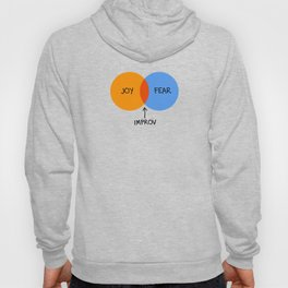 The Venn of Improv (Orange/Blue) Hoody