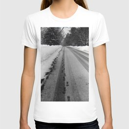 Footsteps in the Snow T-shirt
