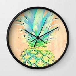 Pastel Pineapple Wall Clock