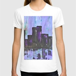 Purple City. Cyber Punk City. Jodilynpaintings Purple City Abstract T-shirt