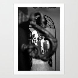 Patio. At the door Art Print
