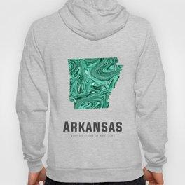 Arkansas - State Map Art - Abstract Map - Green Hoody