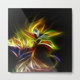 Night Bloom Digital Metal Print