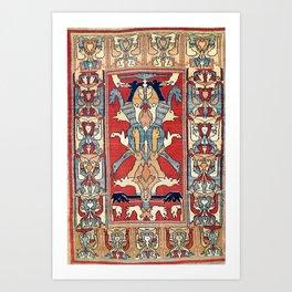 Sehna Kurdish Northwest Persian Rug Print Art Print