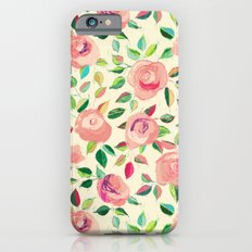 Pastel Roses in Blush Pink and Cream  iPhone 6 Slim Case