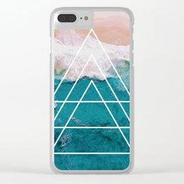 Beach Arrow / Geometric Clear iPhone Case