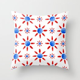 Watercolor ethnical ornament Throw Pillow