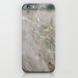 Tall wild grass growing in a meadow iPhone Case