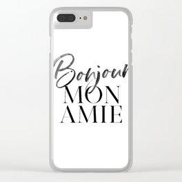 Bonjour Mon Amie Clear iPhone Case