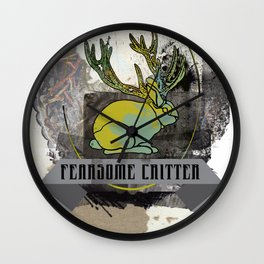fearsome critter Wall Clock