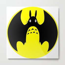Batmann Totorro Metal Print