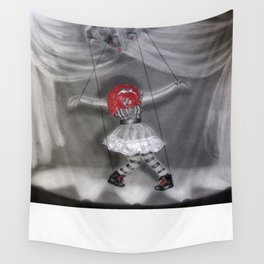 All Strung Up; Human Marionette Wall Tapestry