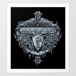 Arkham Crest Art Print