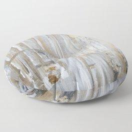 Metallic Abstract Floor Pillow