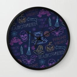 Halloween. It's a terrible night Wall Clock