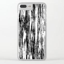 Ikat Streaks in Ink Black Clear iPhone Case