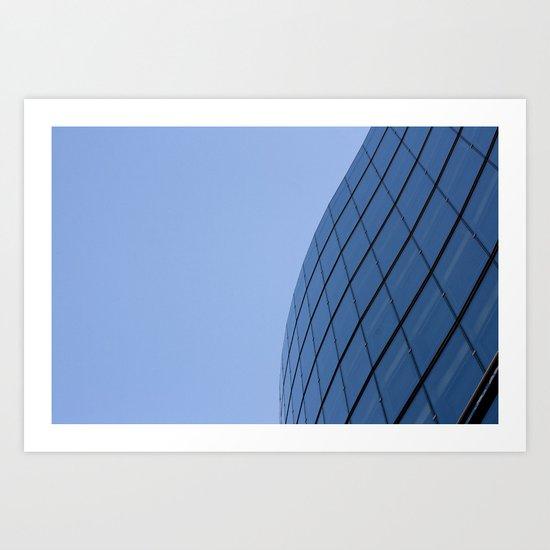 The Blue Curve Art Print