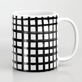 Hand-painted Grid Coffee Mug