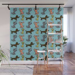 Small Dogs . Artwork Wall Mural