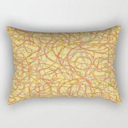 Yellow scribbled lines pattern Rectangular Pillow