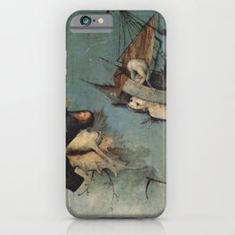 Hieronymus Bosch flying ships and creatures iPhone Case