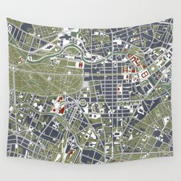 Berlin city map engraving Wall Tapestry
