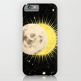 Imminent Eclipse Sun Moon & Stars Space Astronomy Cosmos Solar Lunar iPhone Case