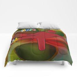 Soccer Kicker Icon Comforters