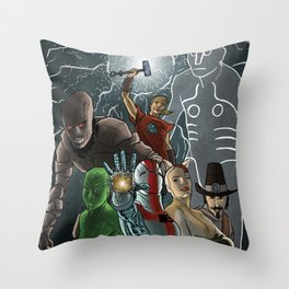 Englishman Throw Pillow