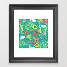 Maritime pattern Framed Art Print