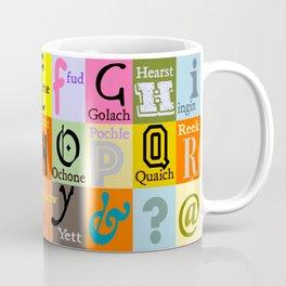 Alphabet of Scottish Words Coffee Mug