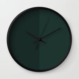 Green Rectangle V1 Wall Clock