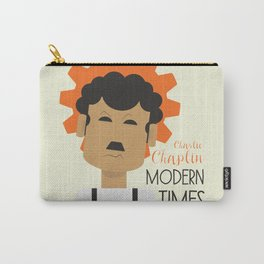 """Charlie Chaplin """"Modern Times"""" movie poster, fine Art print, classic film with Paulette Goddard Carry-All Pouch"""