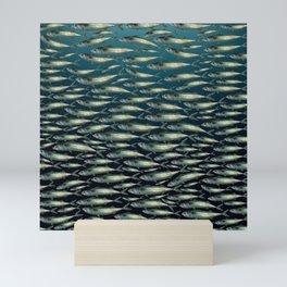 Mackerel At School. Mini Art Print