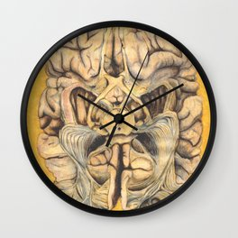 Brain section showing visual system pathway Wall Clock