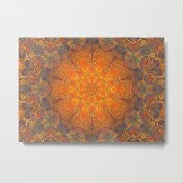 mandala 2 orange #mandala #orange Metal Print