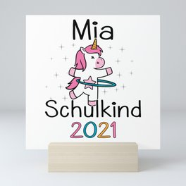 Enrollment 2021 Mia First Graders 2021 Unicorn Mini Art Print