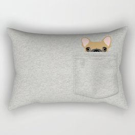 Pocket French Bulldog - Fawn Rectangular Pillow