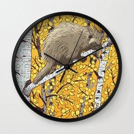 Porcupine & Aspen Wall Clock