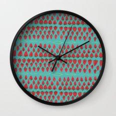 Field of Strawberries Wall Clock