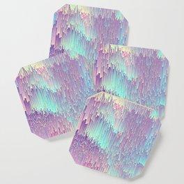 Iridescent Glitches Coaster