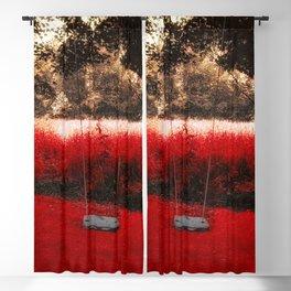 Red Velvet Blackout Curtain