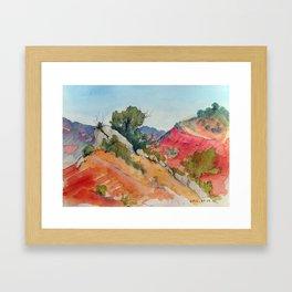 Red Earth Framed Art Print