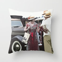 At The Races, 1937 Style Throw Pillow