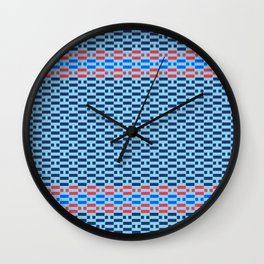 Minimal Checkered Geometric Pattern Wall Clock