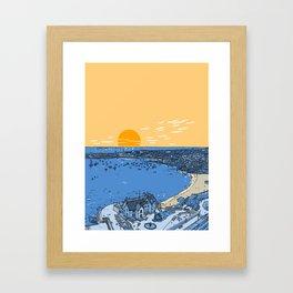 Cascais Bay-Portugal-Beach-Sunset-Landscape Framed Art Print
