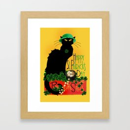 St Patrick's Day - Le Chat Noir Framed Art Print