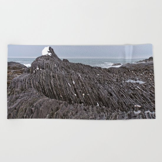 The Ends of the Earth are Frozen in Time Beach Towel